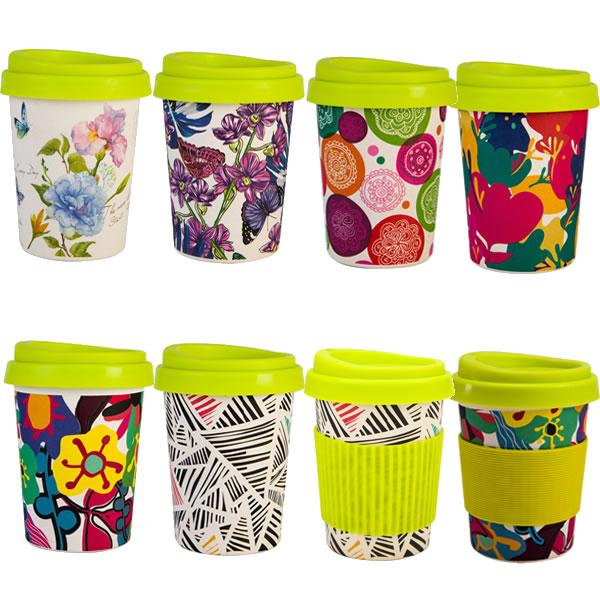 12OZ Biodegradable Bamboo Fiber Coffee Mugs