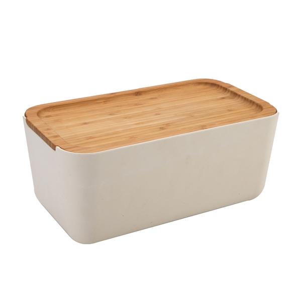 Bamboo Fiber Bread Box Bin with Cutting Board Lid