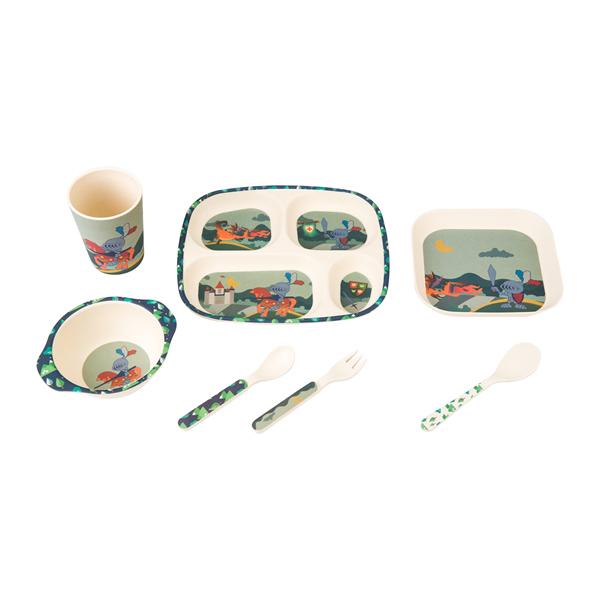 Bamboo Fiber Kids Plate Set