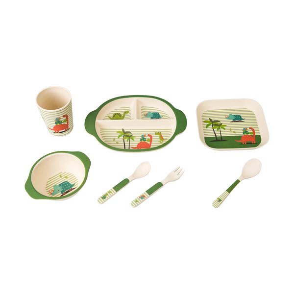 Heat-resistant Bamboo Fiber Kids Dinnerware Set