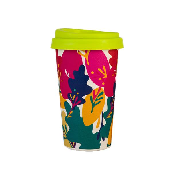 16OZ Bamboo Fiber Travel Coffee Cup