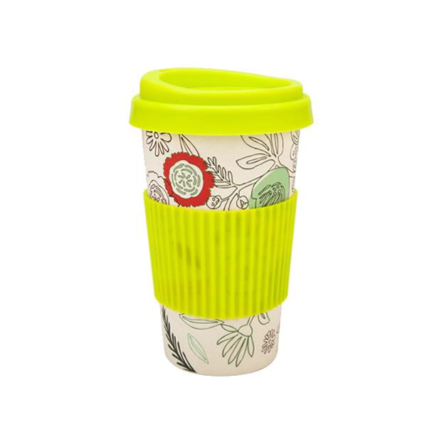 Eco Coffee Mug w Silicone Lid And Holder 6502S