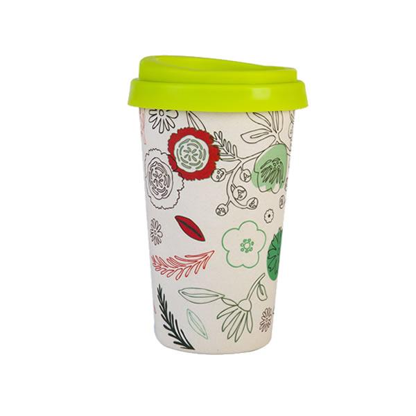 Reusable Bamboo Fiber 16OZ Coffee Cup K28503M#6502